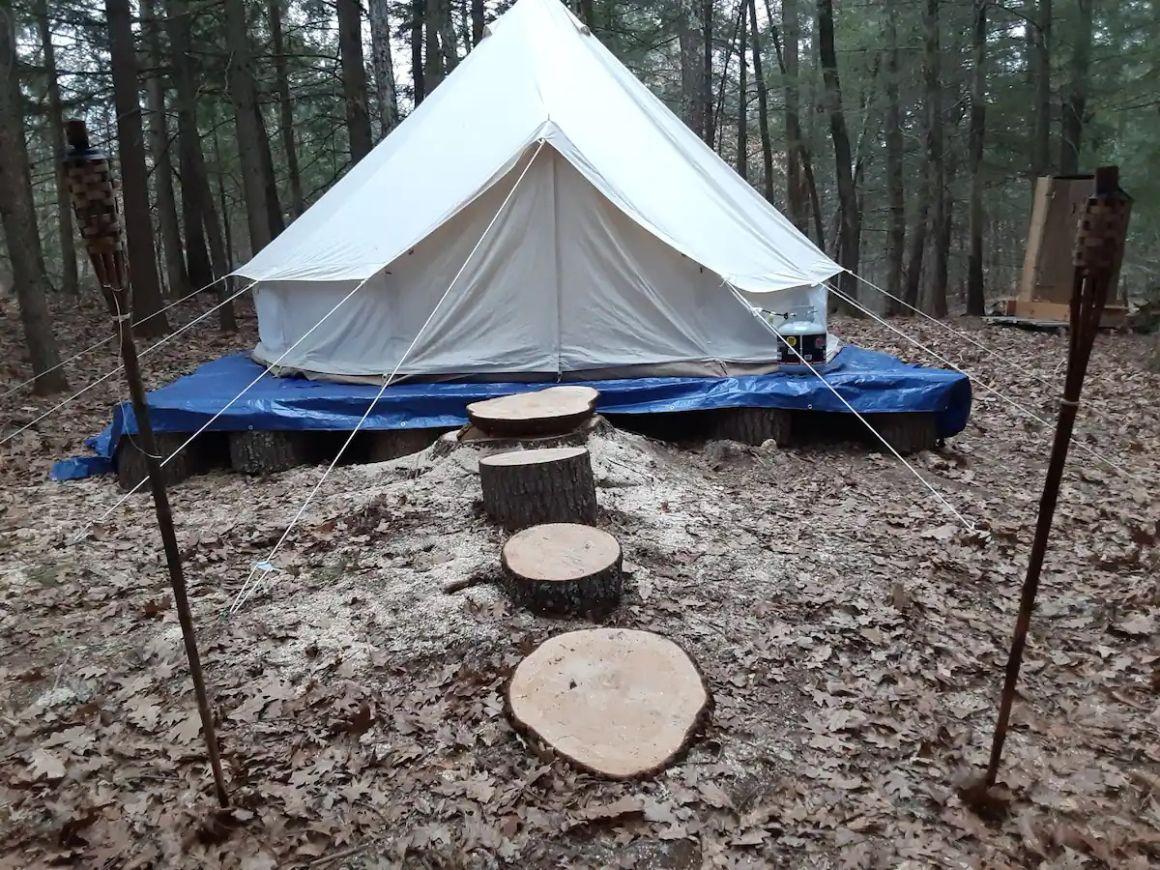 Yurt Tent Glamping, Maine