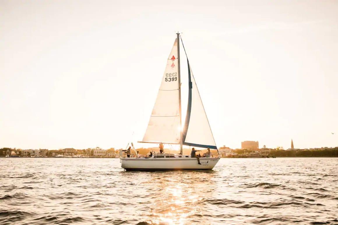 Sunset Sail in Charleston Harbor