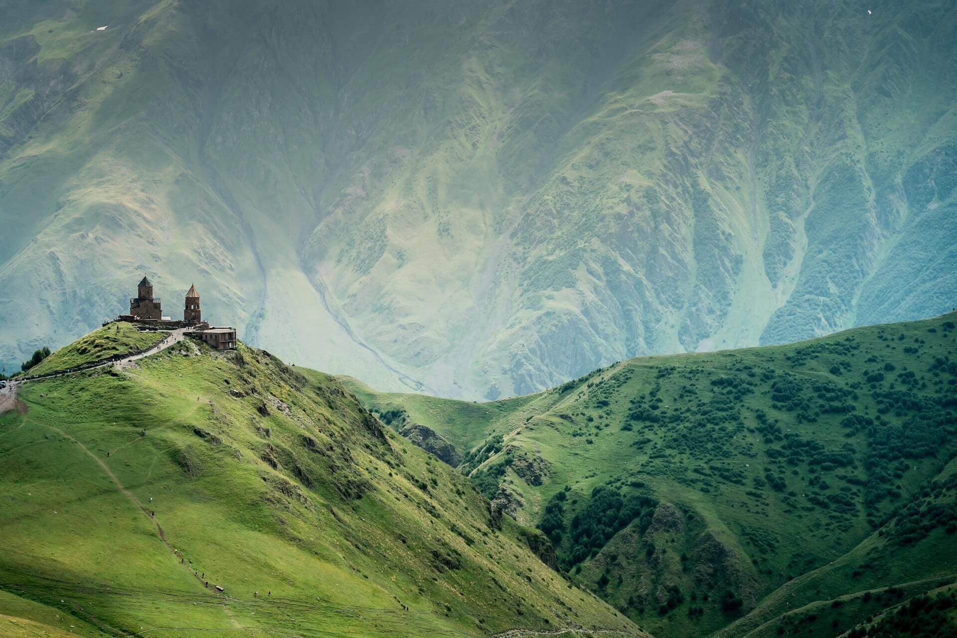 Landscape in Georgia - best off the beaten path destination near Europe