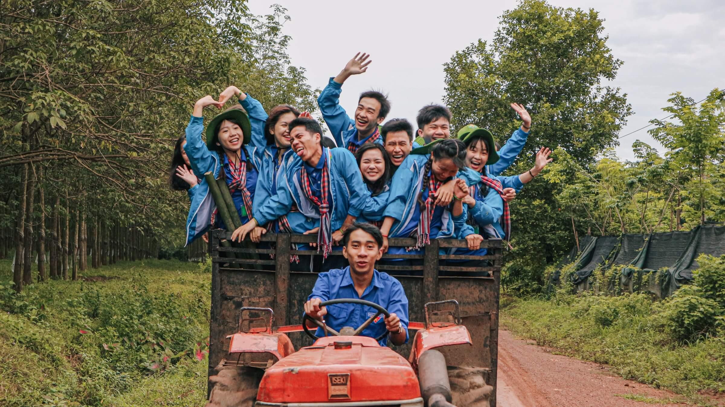 A crew of unusual tourists volunteering in Vietnam