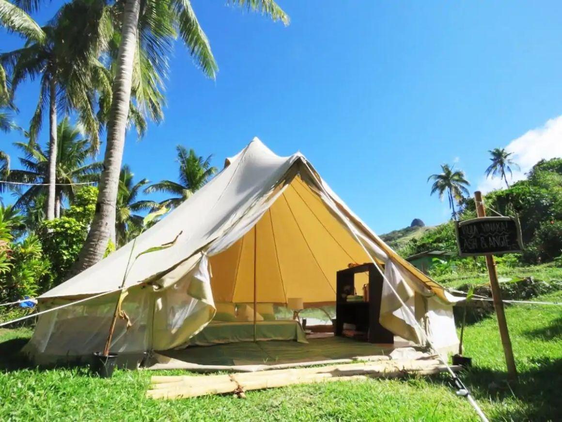 Ocean View Glamping Tent, best eco-resorts Fiji