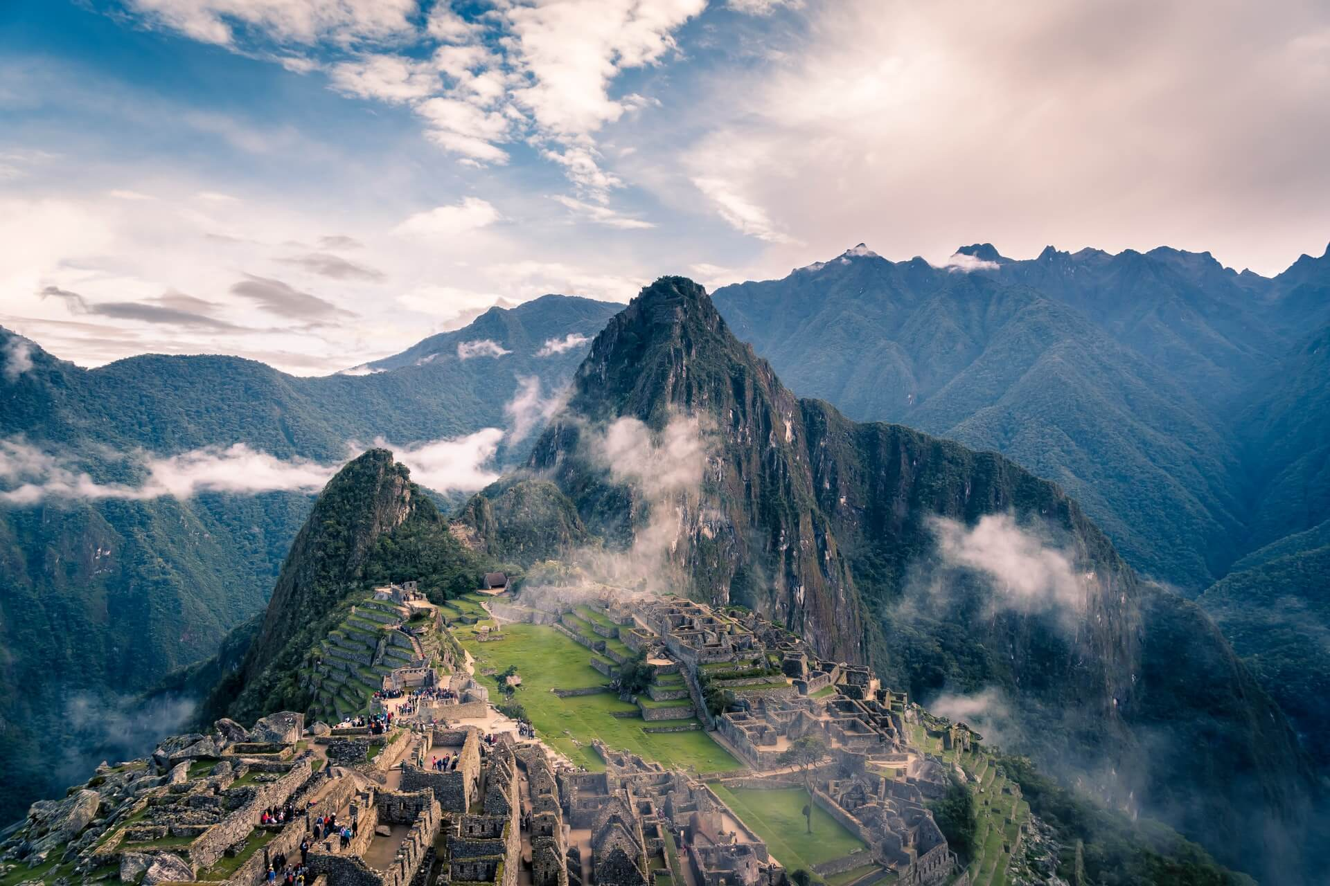 machu picchu view from above