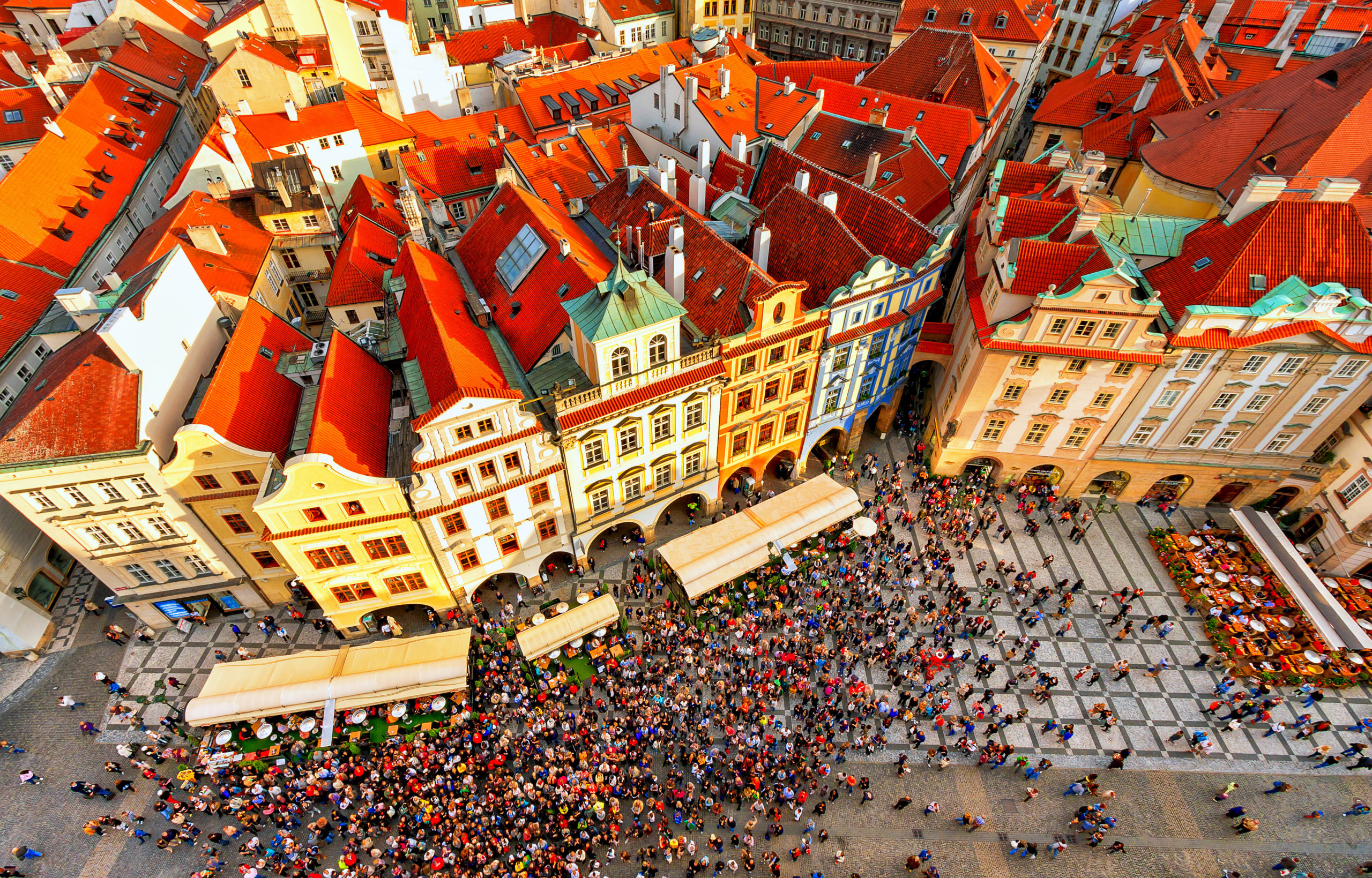 Prague is busy