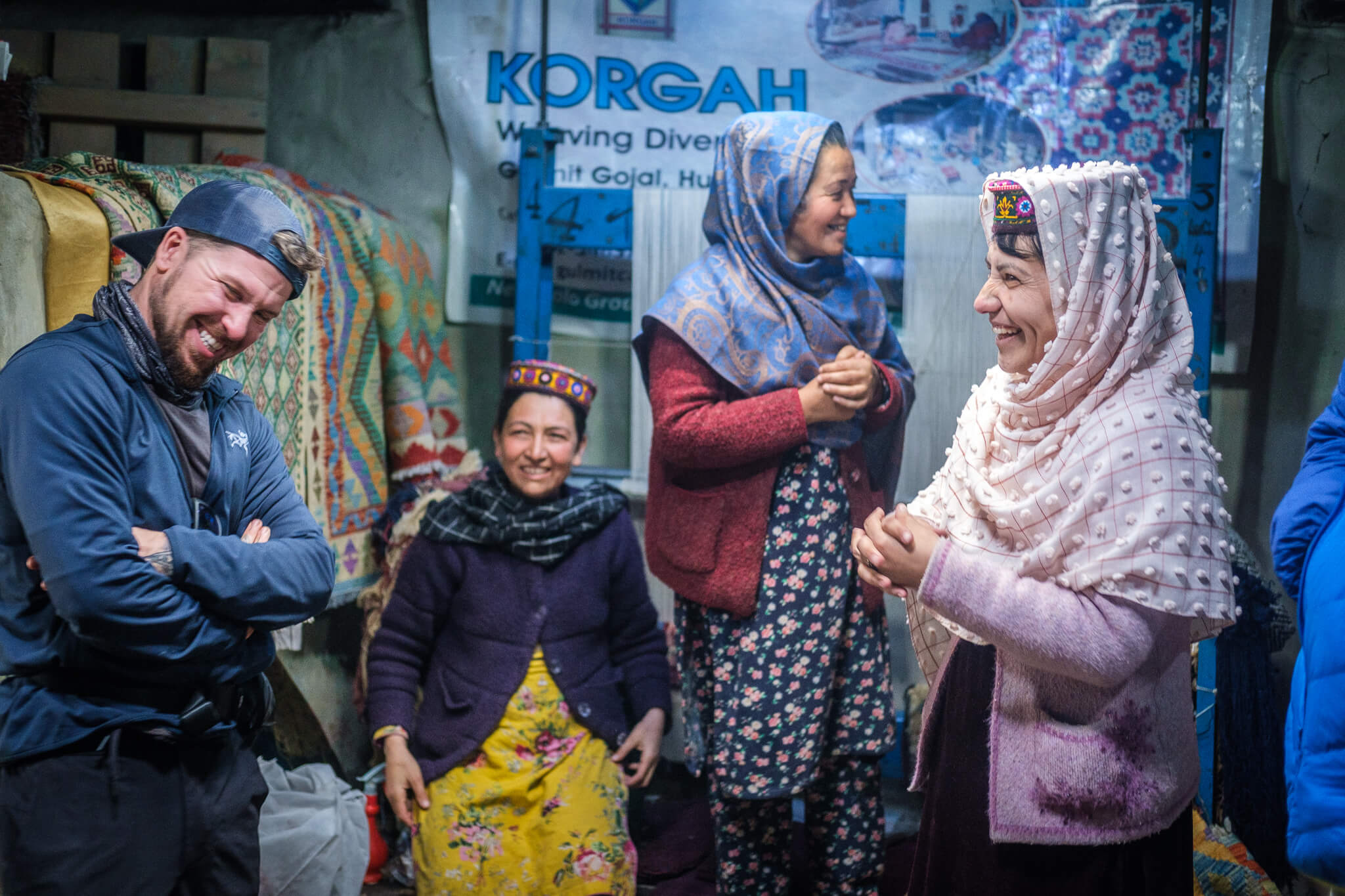 will laughing with ladies in hunza pakistan