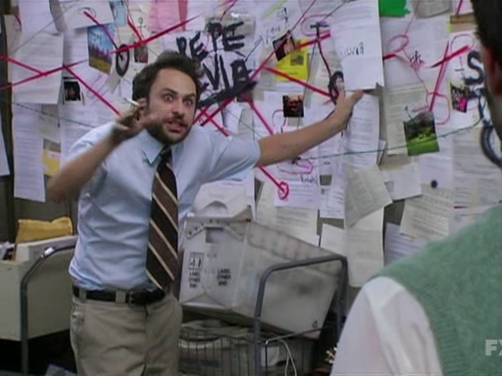 Charlie Day conspiracy meme