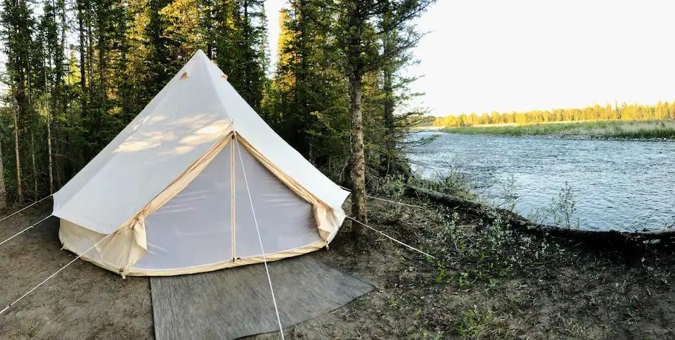 Rustic Riverside Camping Equinox Tent Calgary