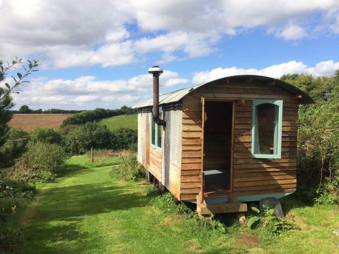 The Shepherds Hut Eco Lodge Cornwall