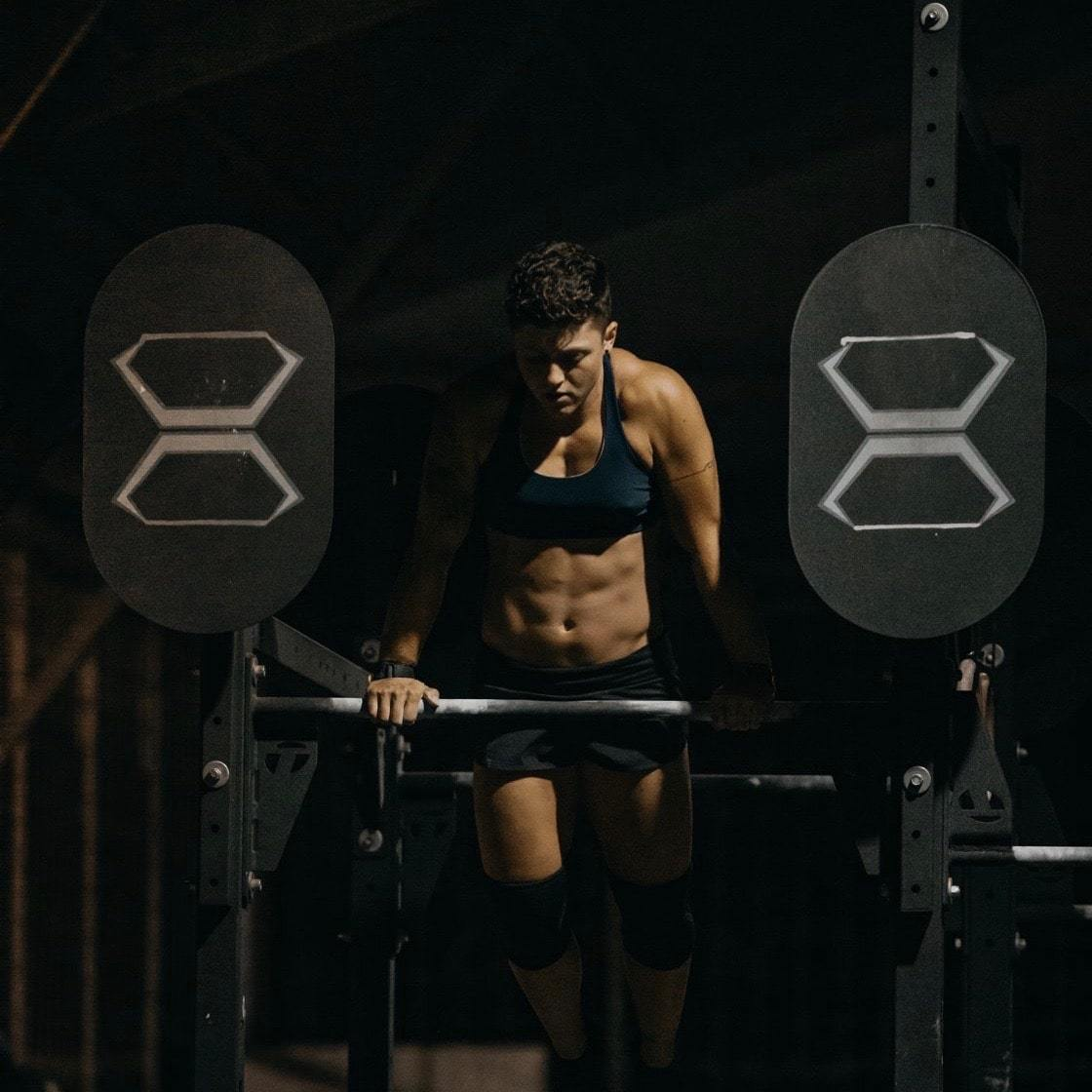 Lu working out in a gym in Bali