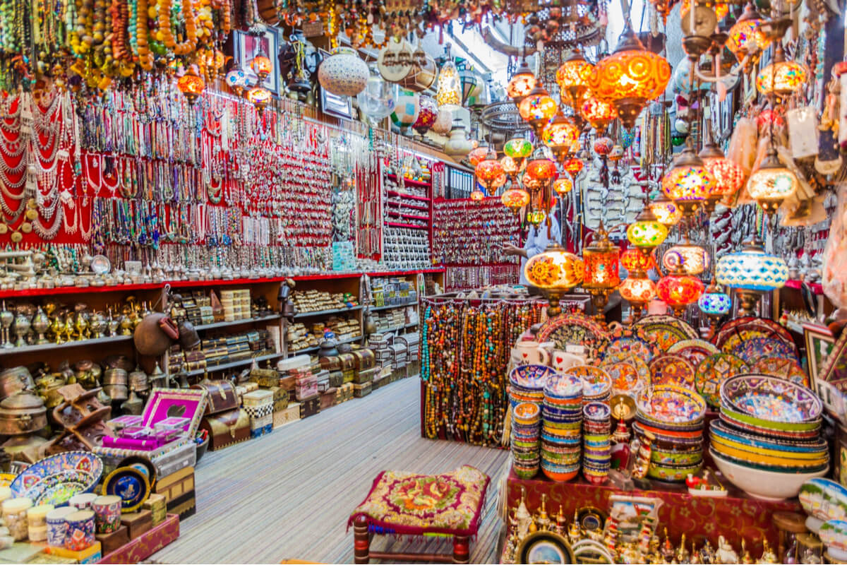 colorful place to shop at the muttrah souq in oman