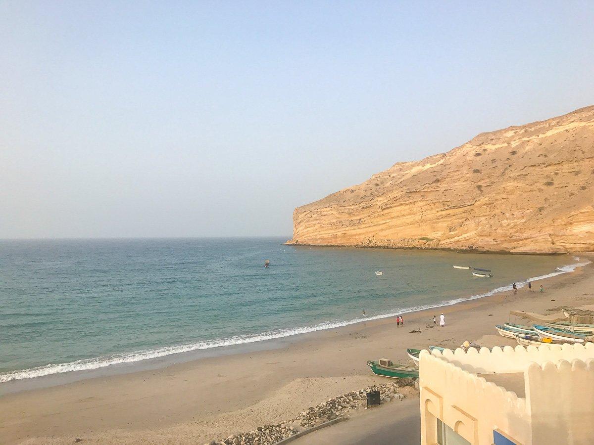 view from oman airbnb qantab
