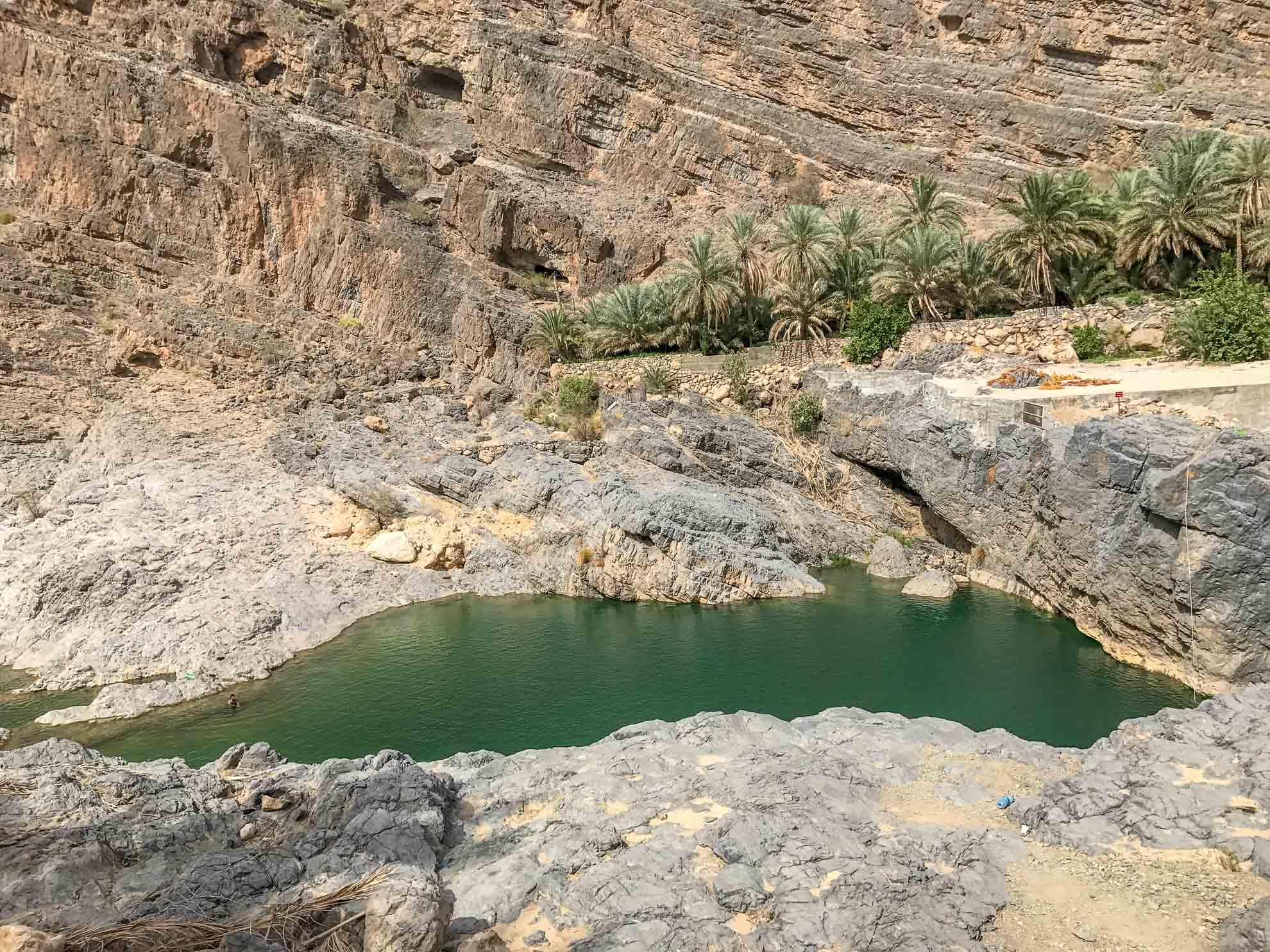 wadi bani khalid pool in oman