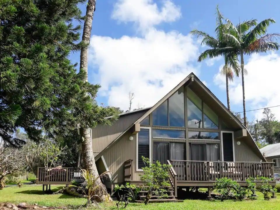 Forest A-Frame Home Big Island