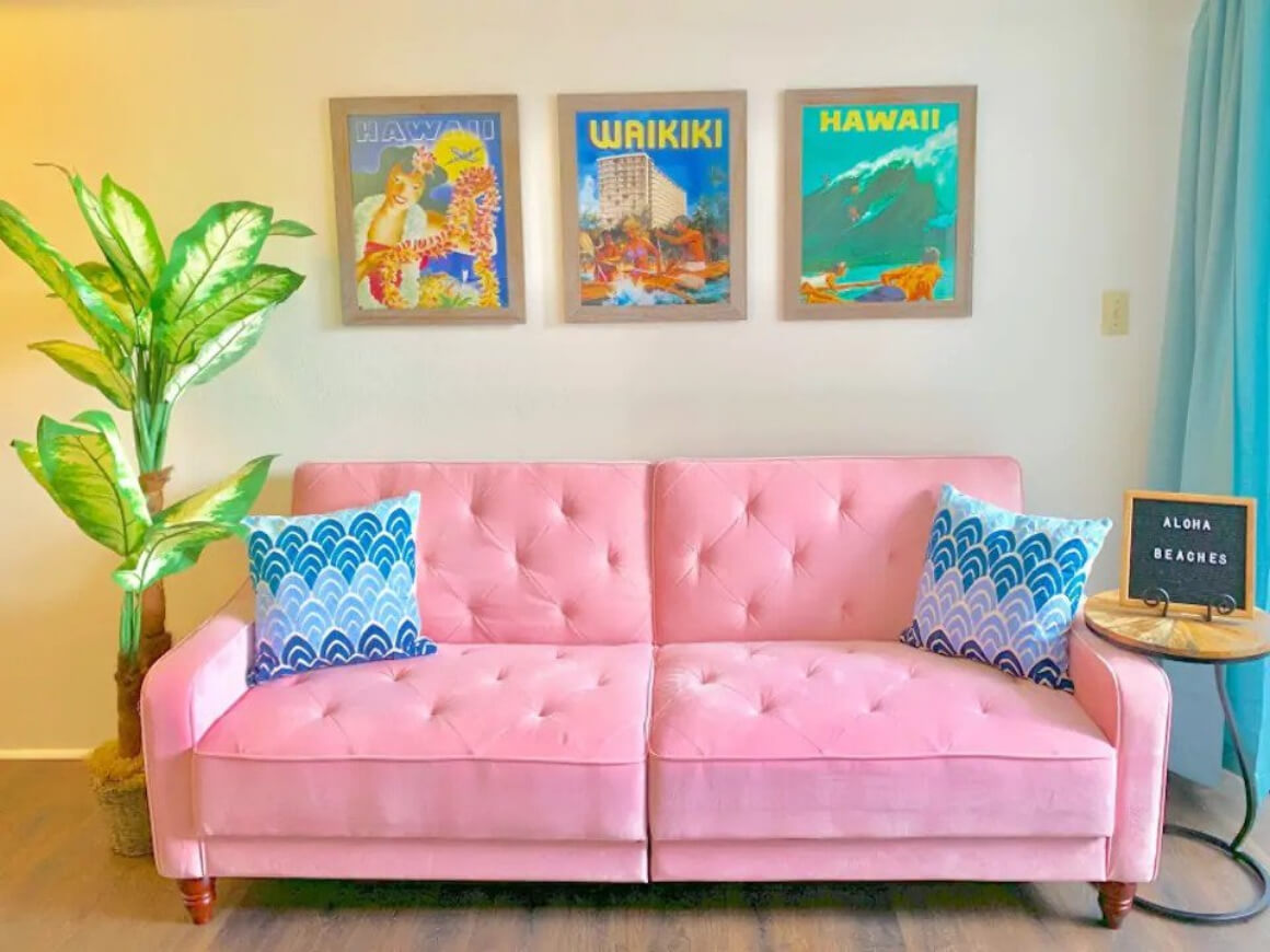 Funky Colorful Ocean View Studio for 2