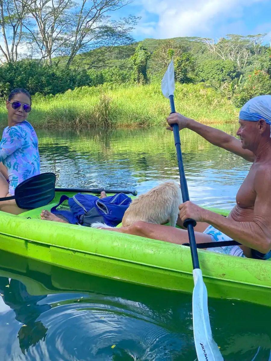 Kayak Sacred River Beach to Waterfall Kauai