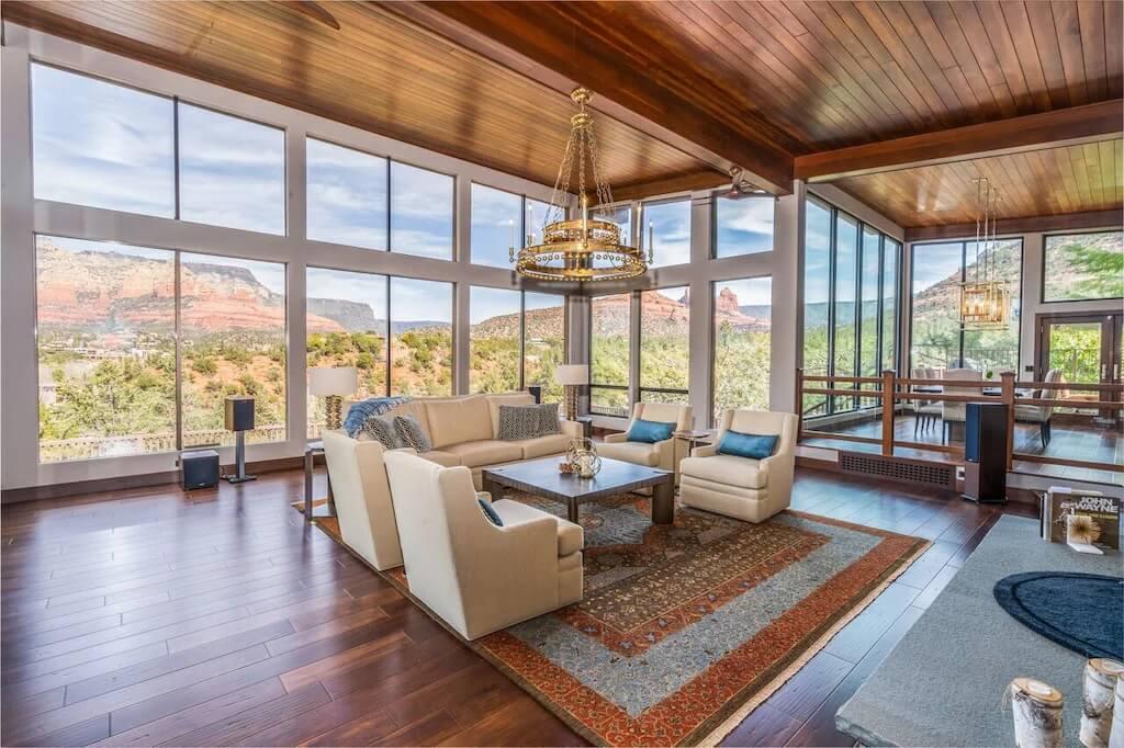 Modern Hillside Home with Mountain Views