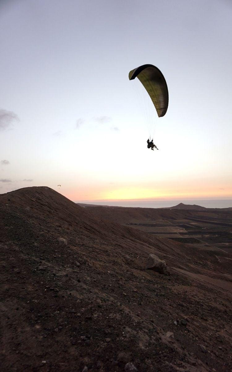 Paragliding Over Lanzarote