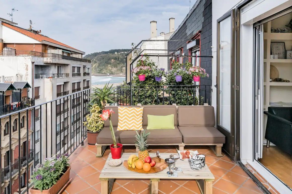 San Sebastian Radiant Sea View Penthouse Experience in Old Town