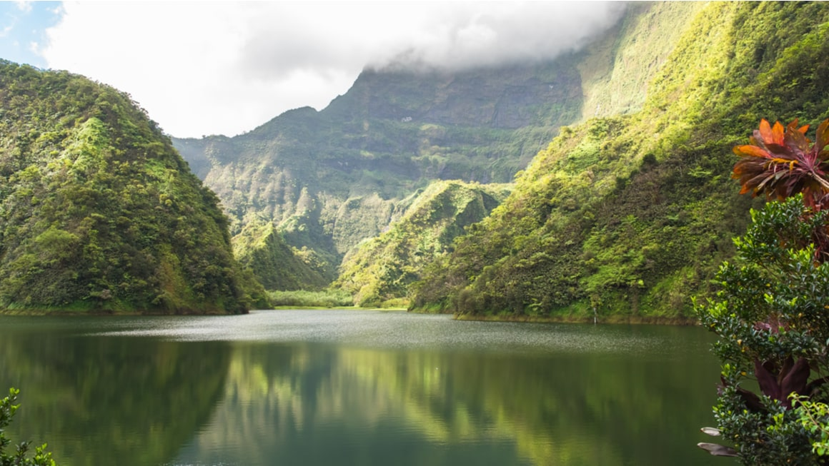 A secluded hike in French Polynesia