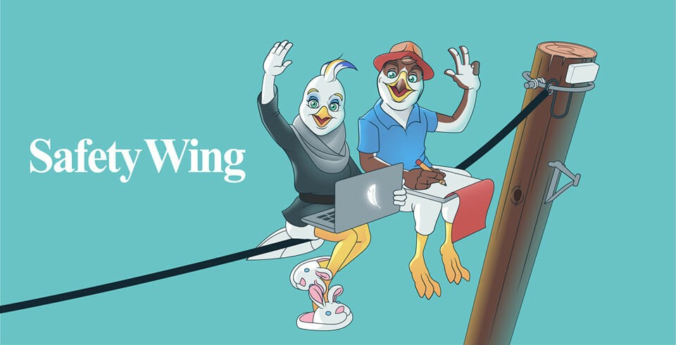 A banner image for Safetywing travel insurance