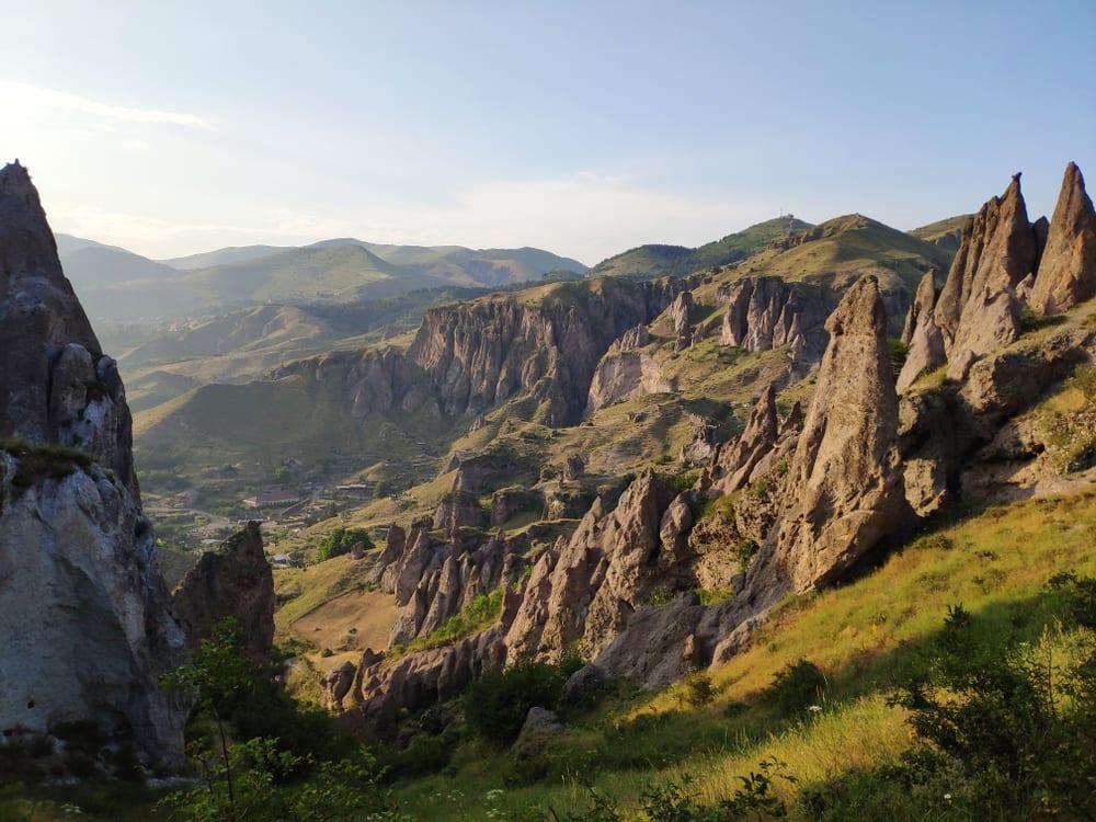 rock formations in goris, Armenia