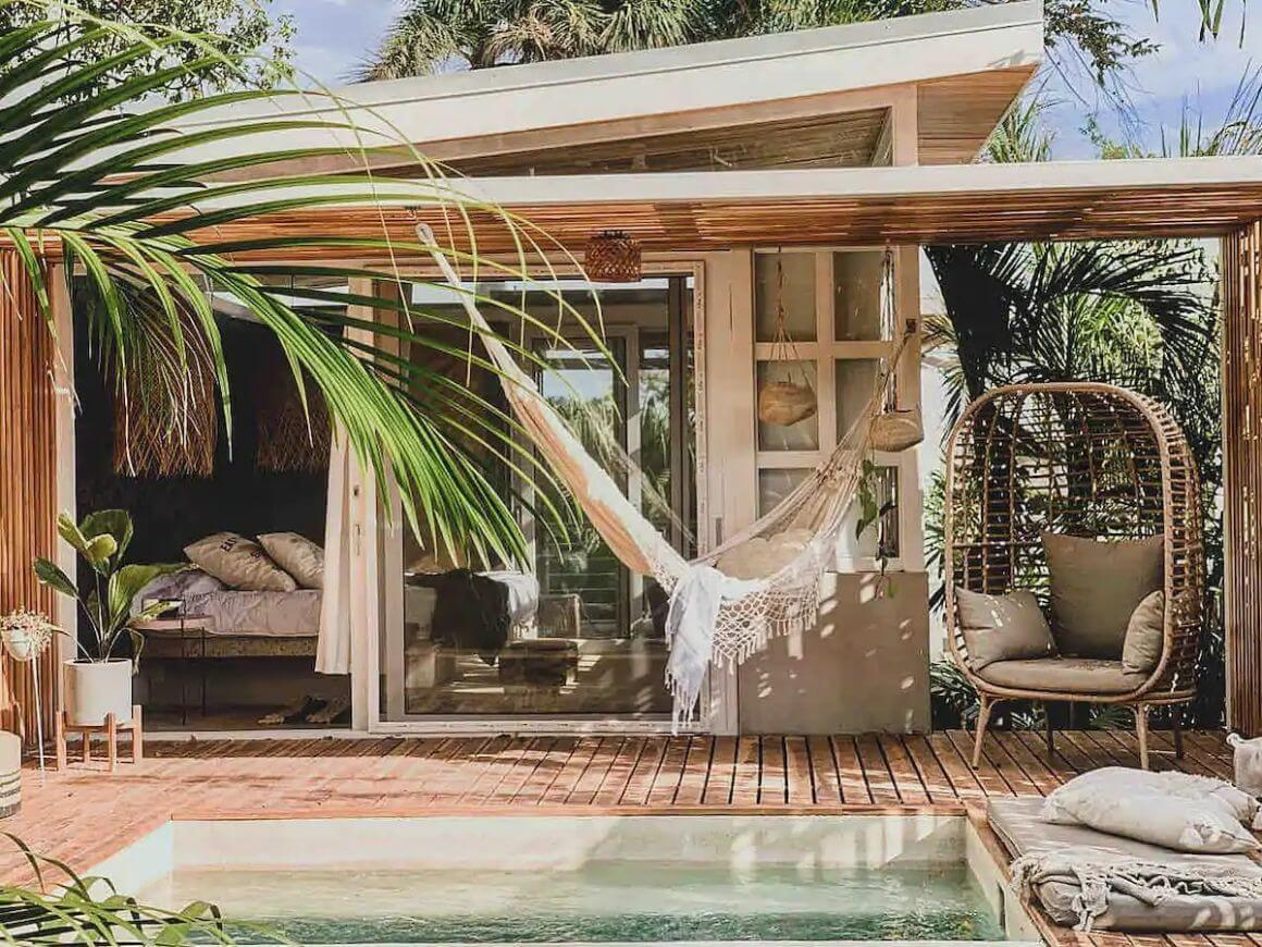 Boho Guesthouse with Pool and Hammocks Costa Rica