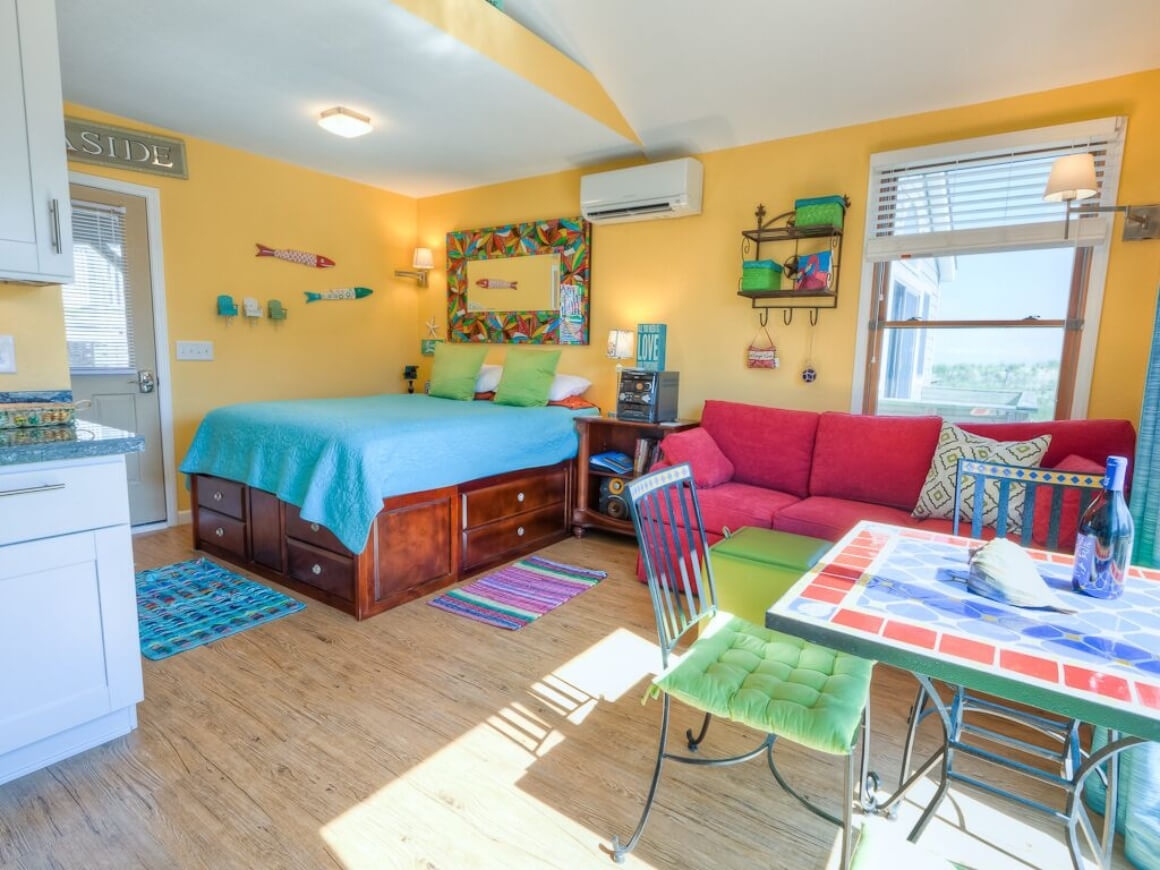 Colorful Oceanfront Cabin