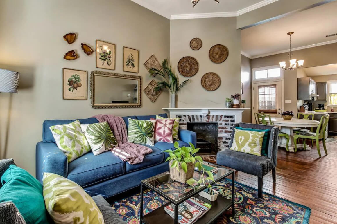 Eclectic and Colorful 2 Bed Family Home