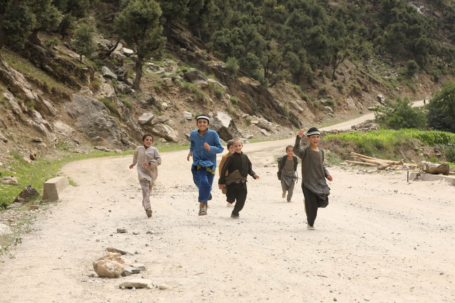 Some local kids in Nuristan - a province of Afganhistan.