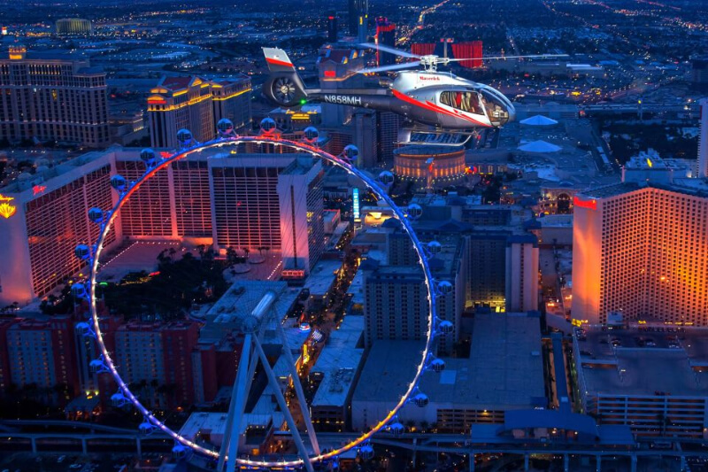 Dinner Package at ARIA & Helicopter Night Flight
