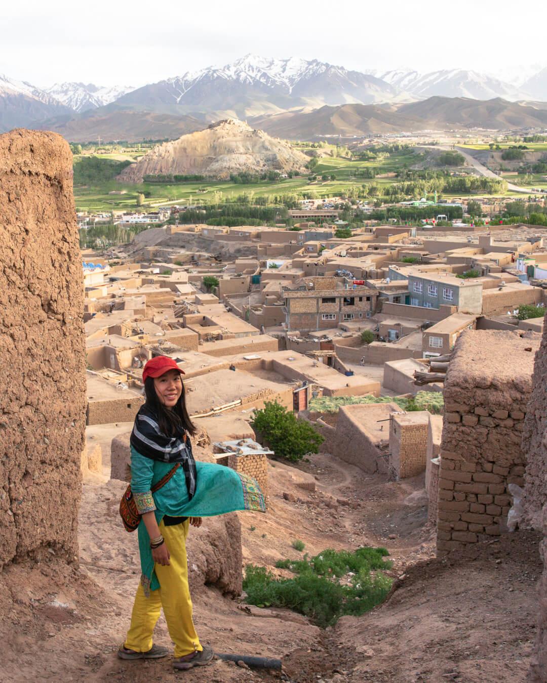 Marsha Jean, Afghanistan backpacker, in Bamiyan.